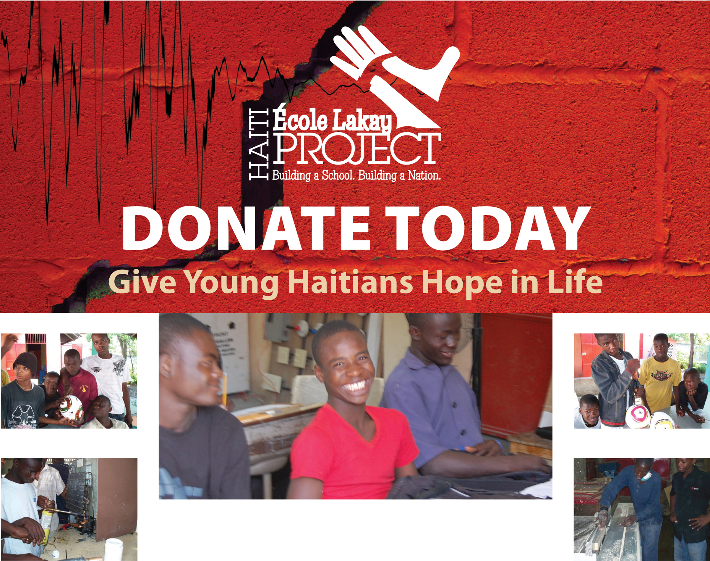 Donate today for the École Lakay rebuilding project